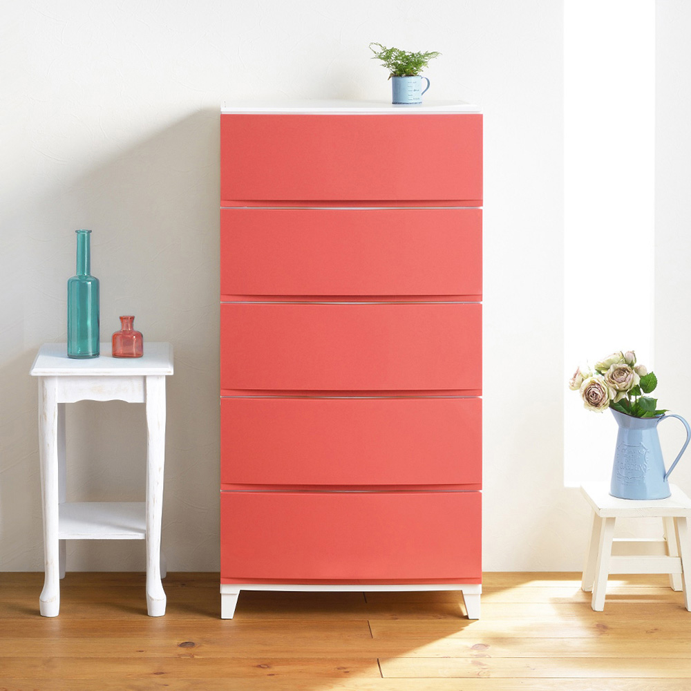 squ+|ROOMS日製54面寬浮光五層抽屜收納櫃-DIY-4色可選