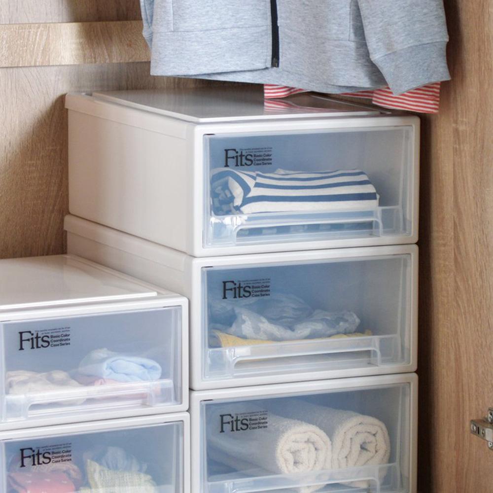 天馬| Fits隨選系列31.6寬單層抽屜收納箱 3入