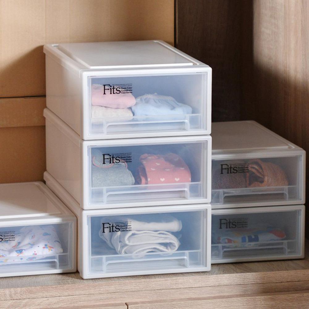 天馬 Fits隨選系列22.4寬單層抽屜收納箱 3入