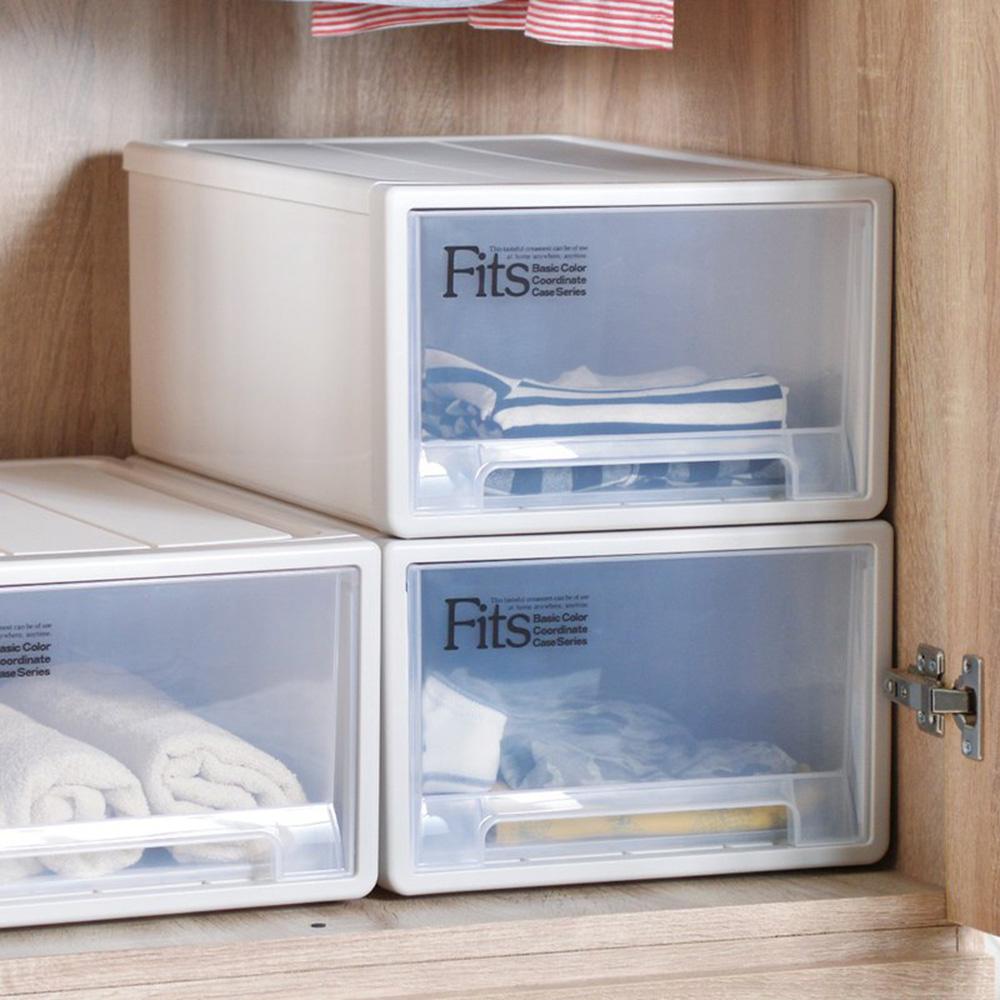 天馬|Fits隨選系列33寬單層抽屜收納箱 3入