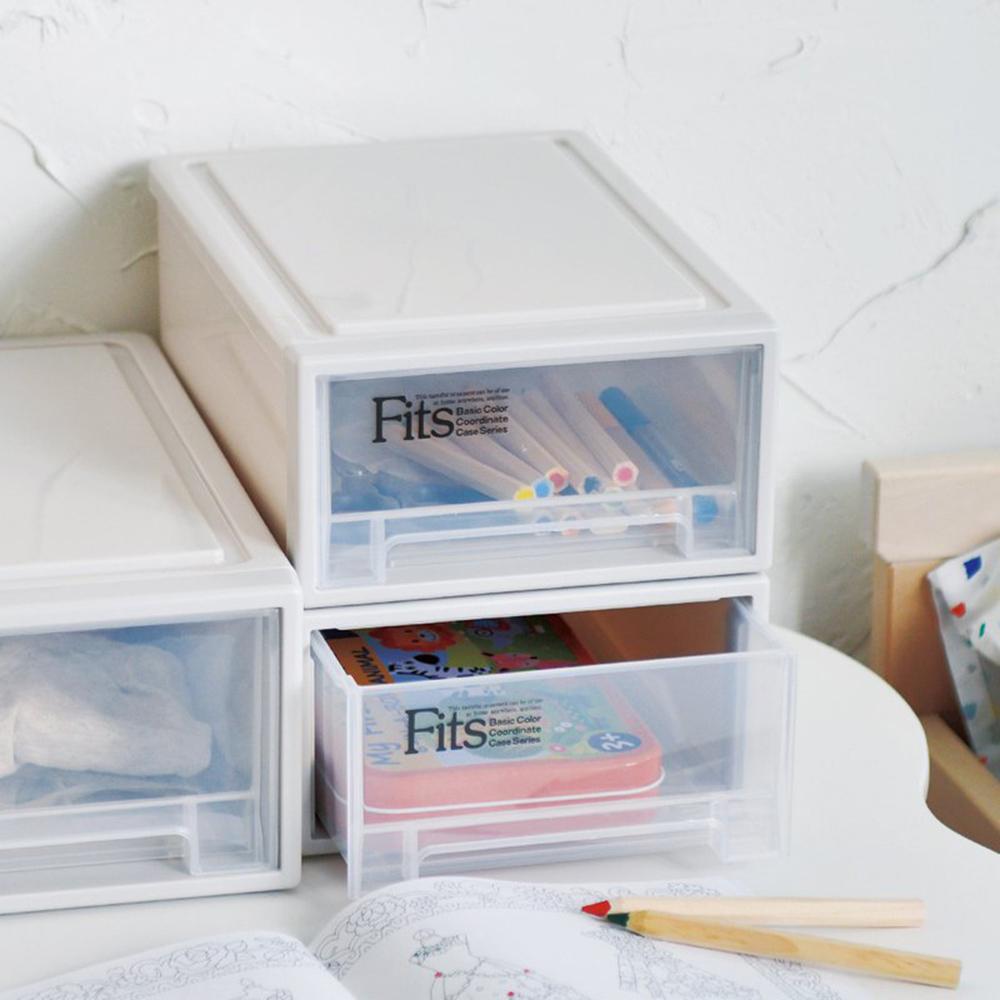 天馬 Fits隨選系列18.4寬單層抽屜收納箱 3入