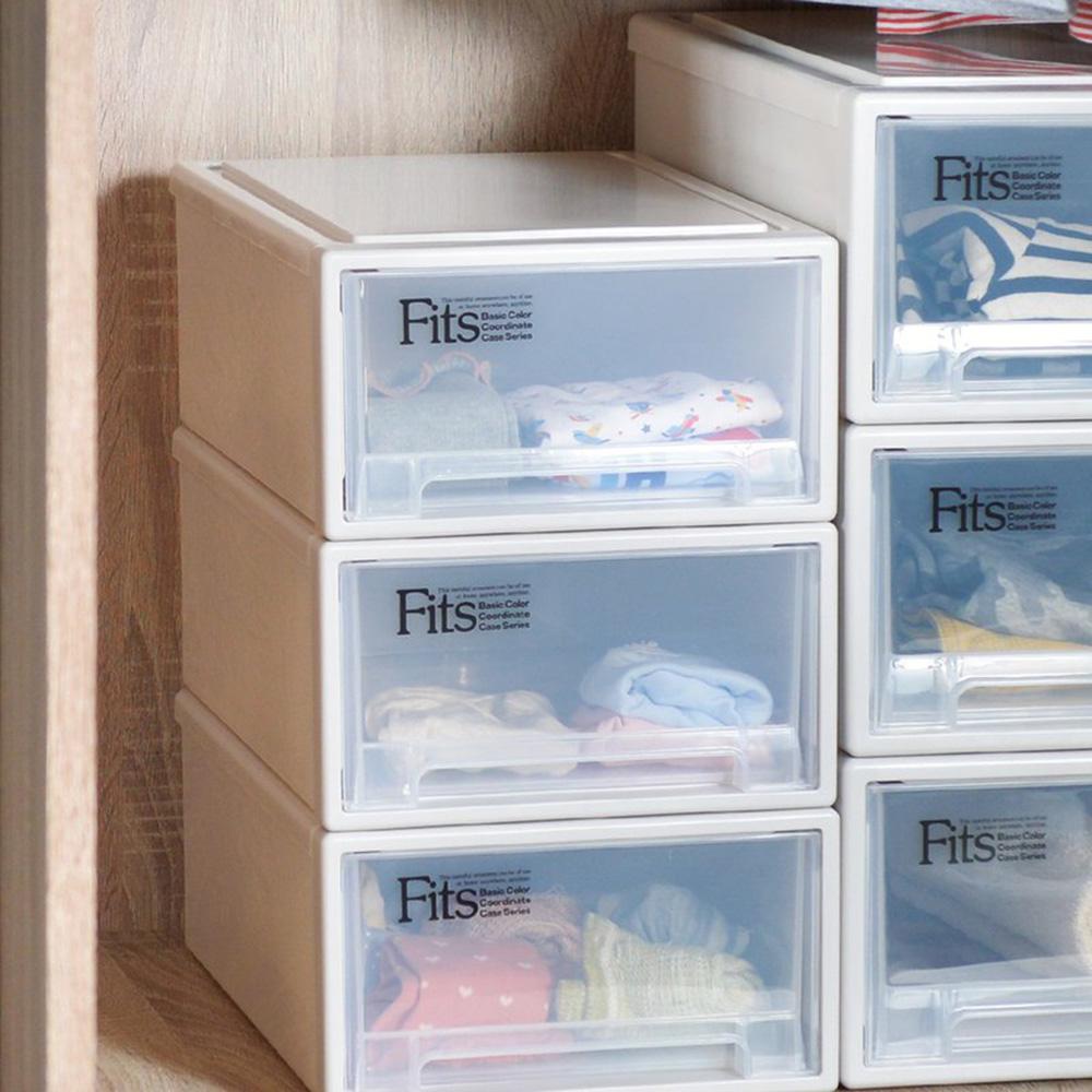 天馬|Fits隨選系列25.7寬單層抽屜收納箱 3入