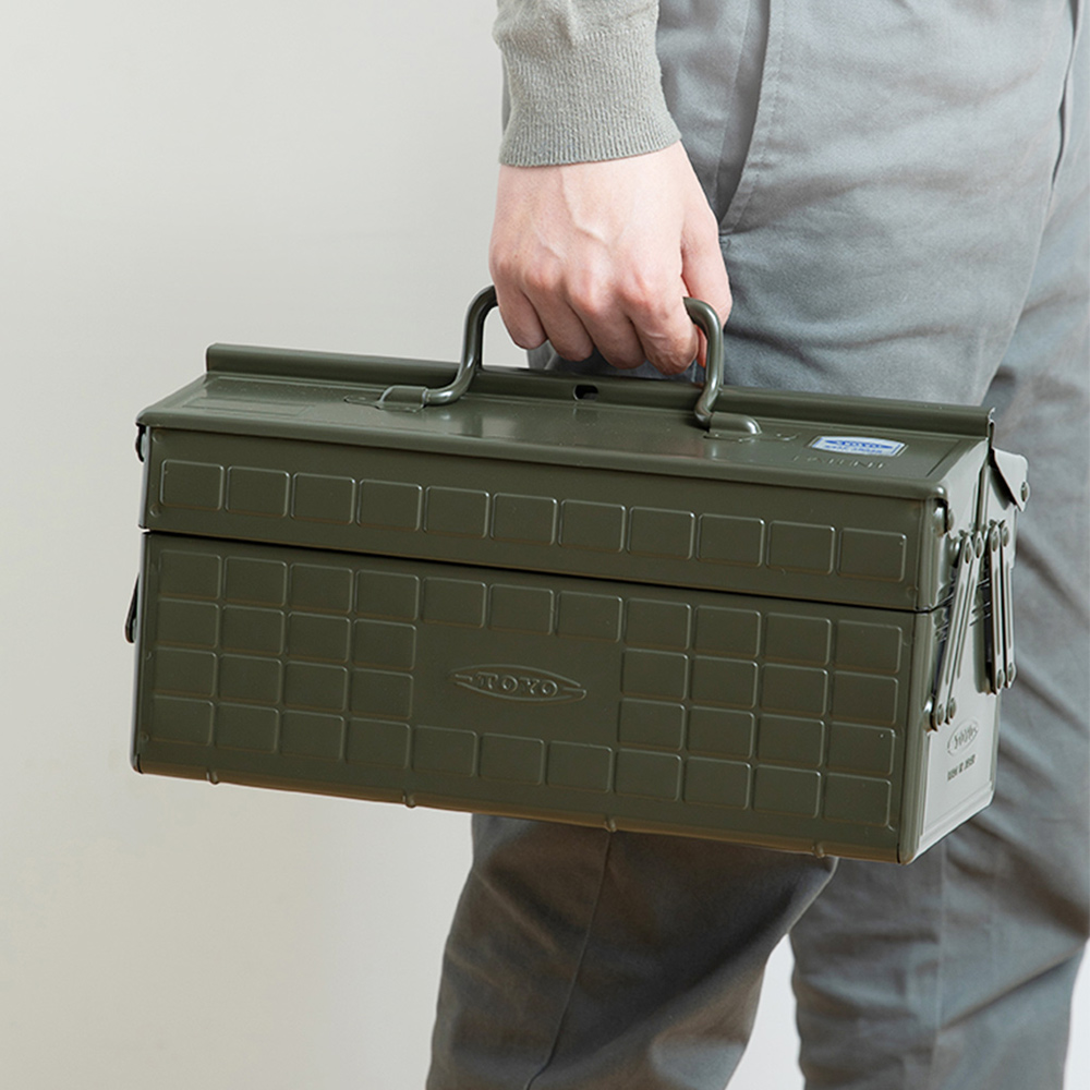 TOYO|ST-350 日製提把式鋼製雙層兩段式工具箱
