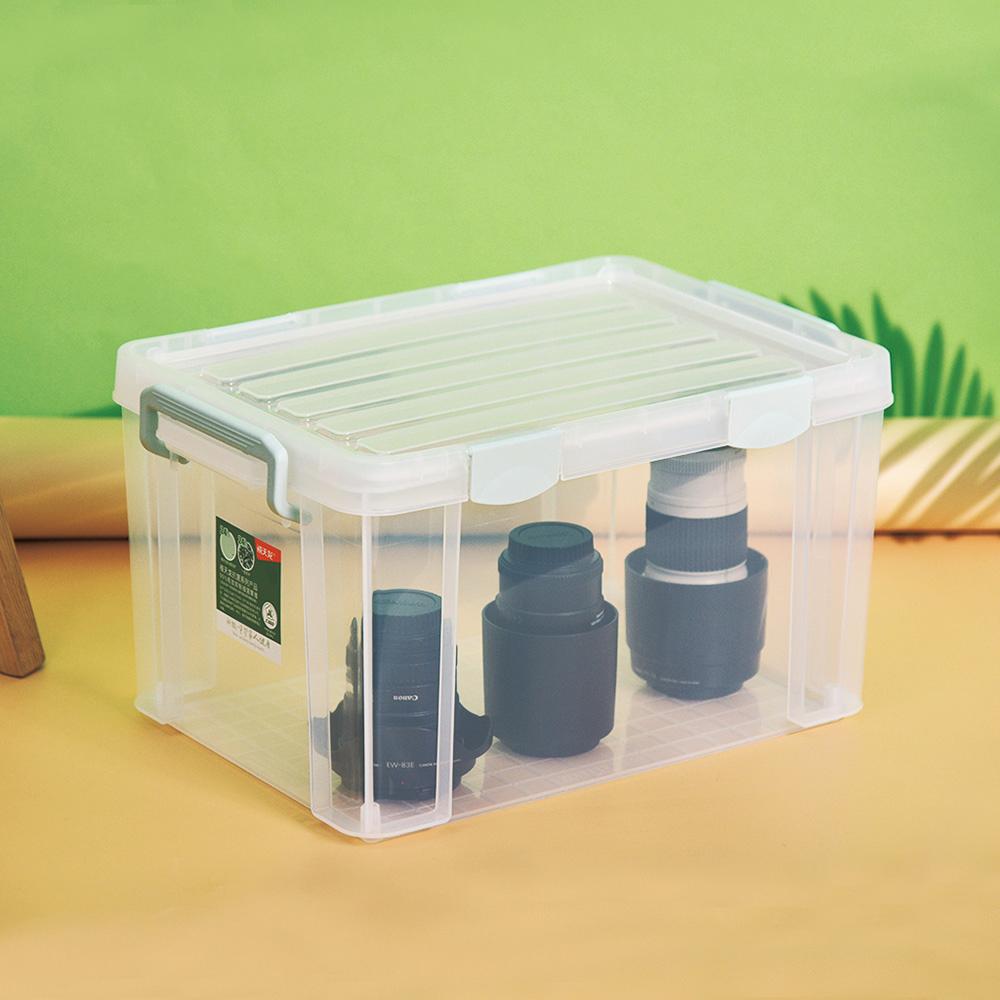 CITYLIFE 奈米抗菌PP強固密封式掀蓋整理箱-26L-3入