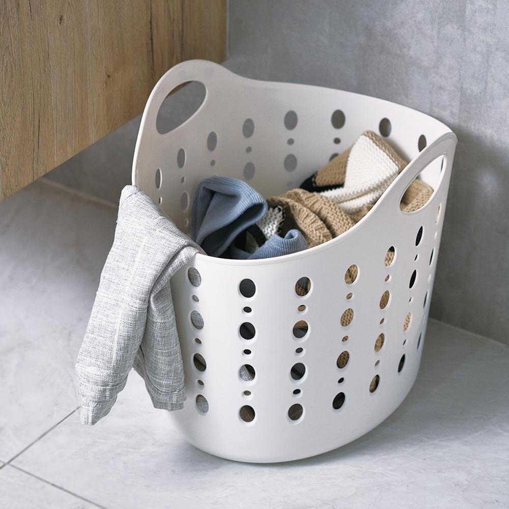 CITYLIFE|奈米抗菌PP手提式洗衣籃-38.5L
