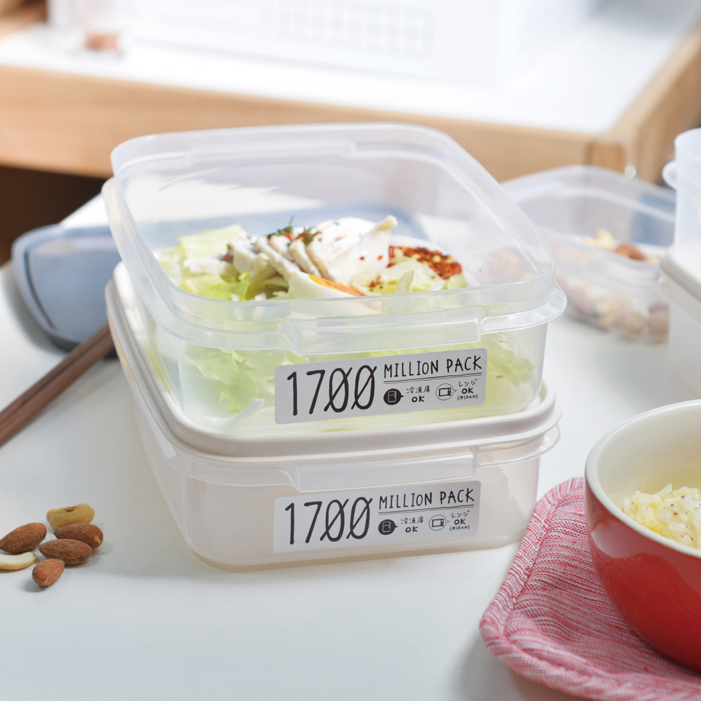 YAMADA|日製冰箱冷凍冷藏保鮮收納盒(可微波)-1700ml-3入