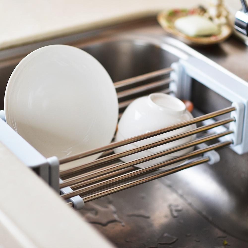 Kakusee 伸縮式廚房水槽置物架