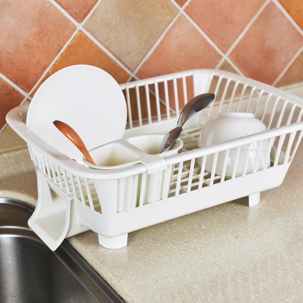 Kakusee 導水式碗盤晾置籃-橫放式