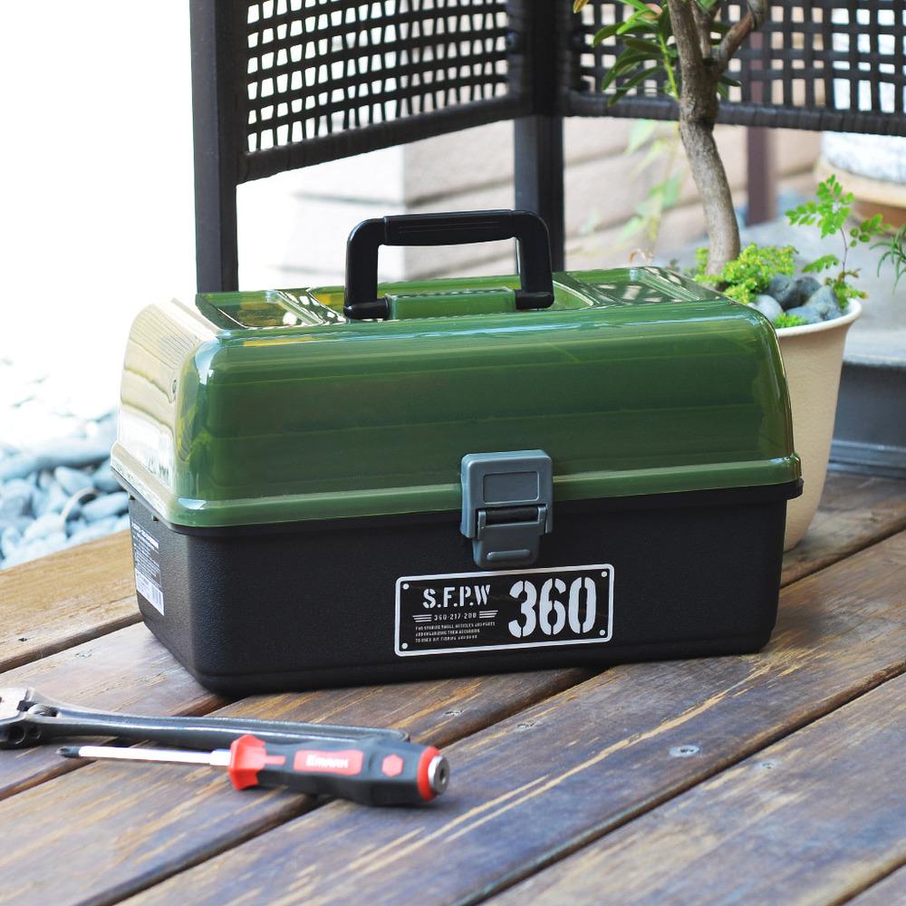 JEJ|360-G3X 專業四層分隔式PP手提工具箱