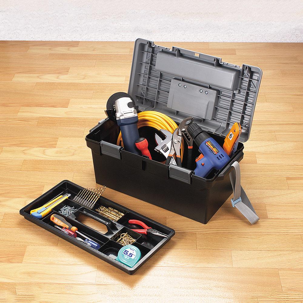 JEJ|日本製 職人490型兩用分隔式PP工具箱(附背帶)