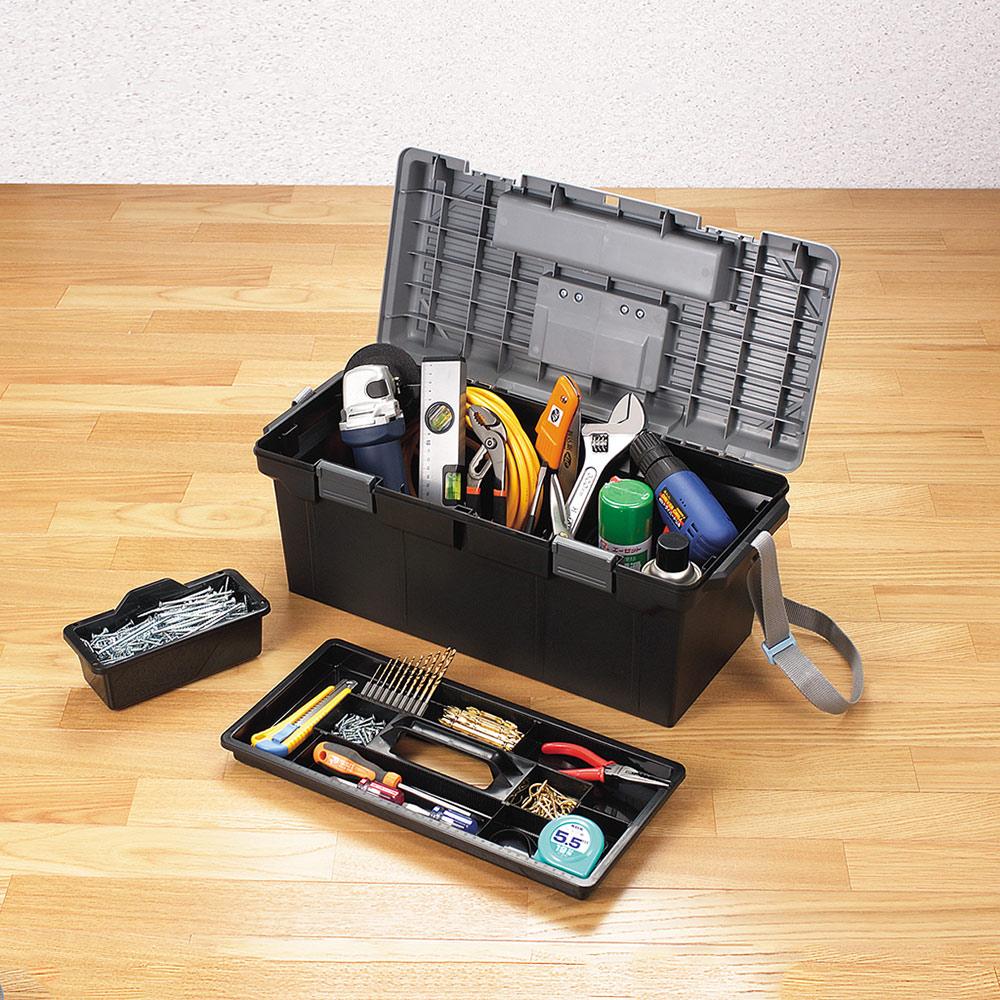 JEJ|日本製 職人590型兩用分隔式PP工具箱(附背帶)