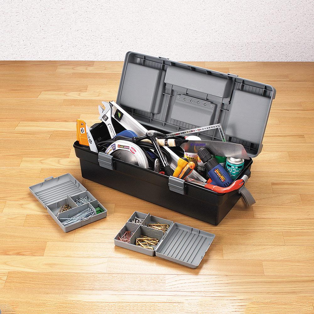 JEJ|日本製 職人680型兩用分隔式PP工具箱(附背帶)