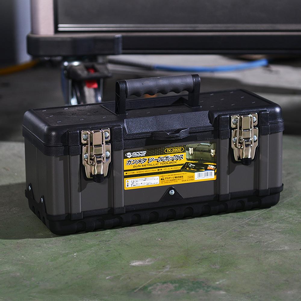 JEJ|TK-390黑武士鋼製雙層分隔式手提工具箱(39x18.5x17cm)