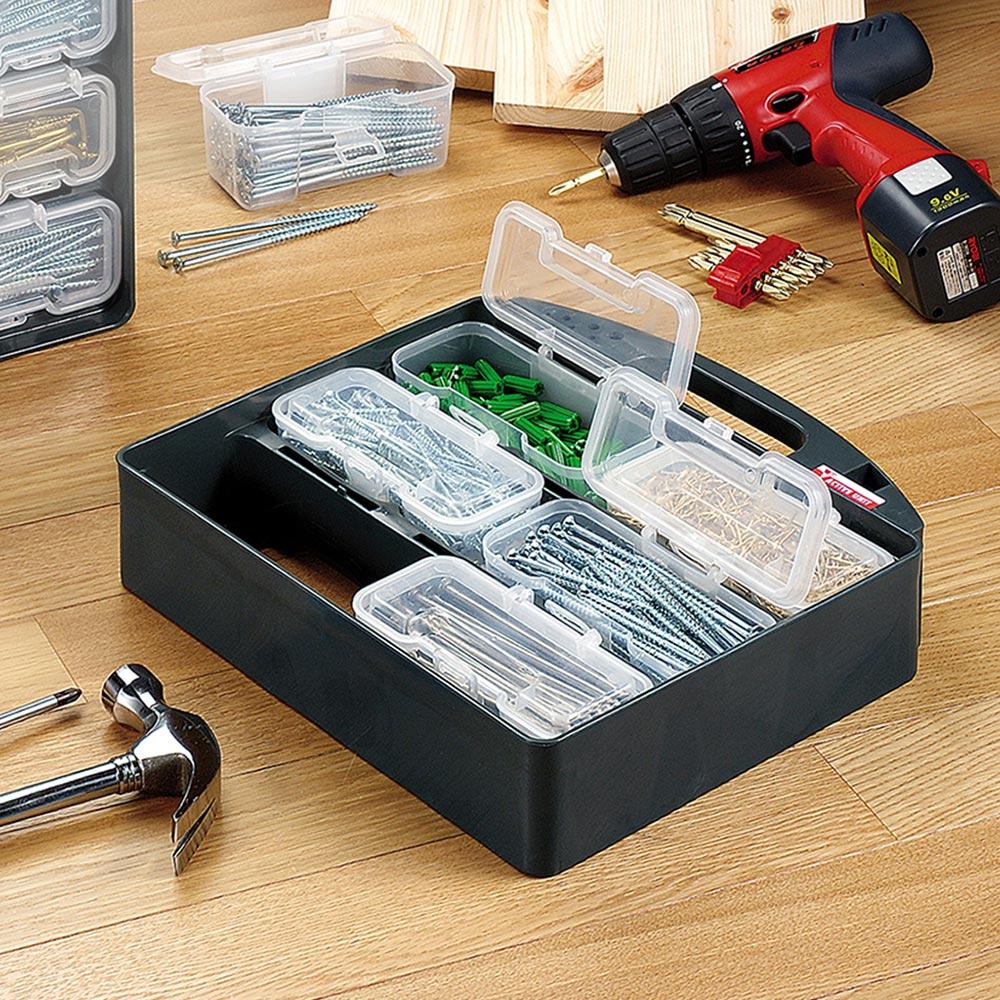 JEJ|日本製6格可拆組合式分類手提零件箱
