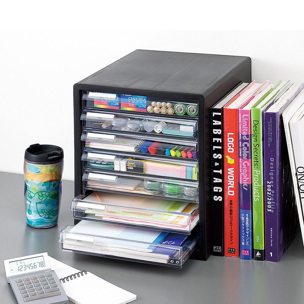 JEJ|日本製桌上型A4文件收納櫃(7低抽)