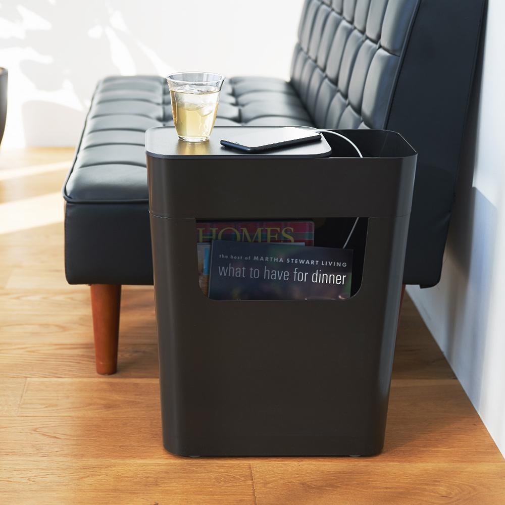 岩谷Iwatani 日本製ENOTS側面收納置物活動邊桌(附輪)-13.5L-多色可選