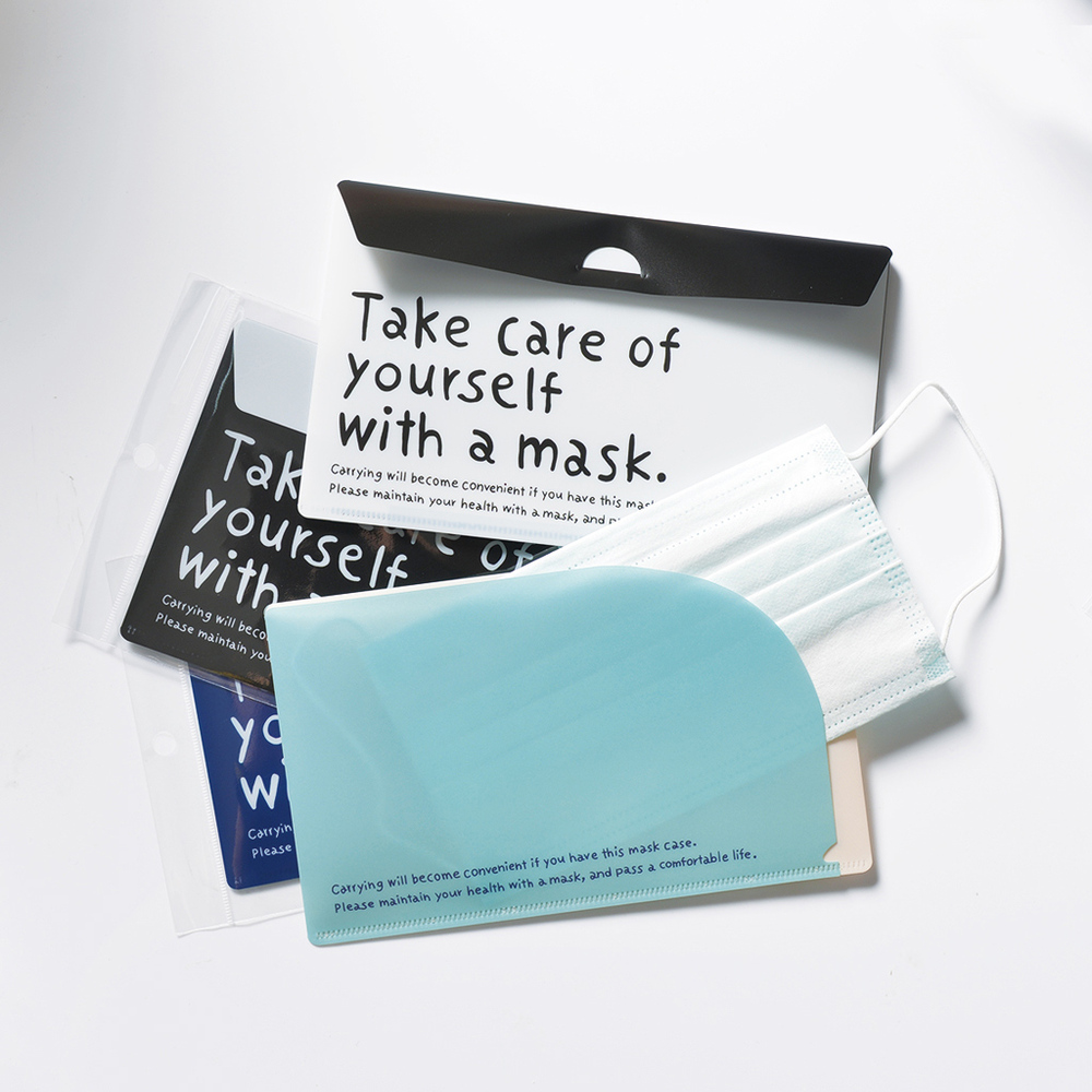 YAMADA|日製兩用信封式口罩分隔攜行收納夾-字母款-4色套組