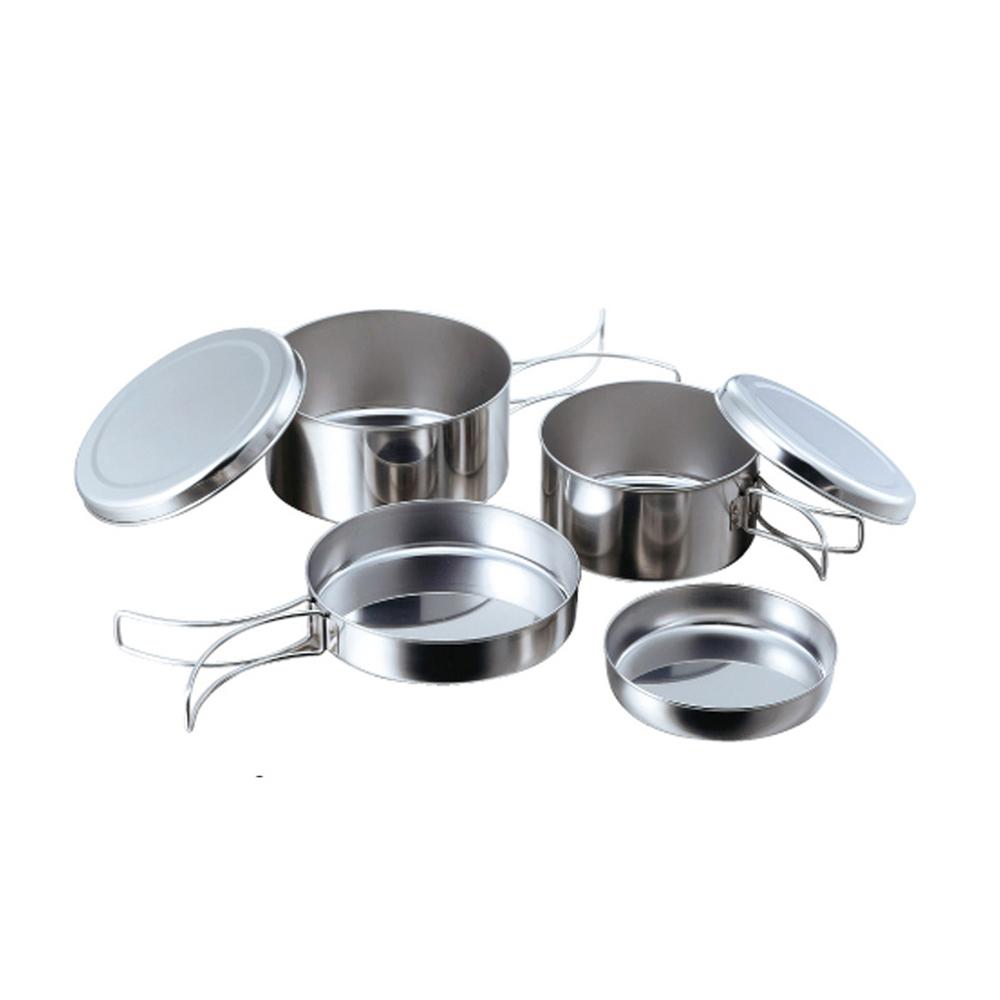 高桑élfin 日製不鏽鋼鍋碗盤萬用標準4件組