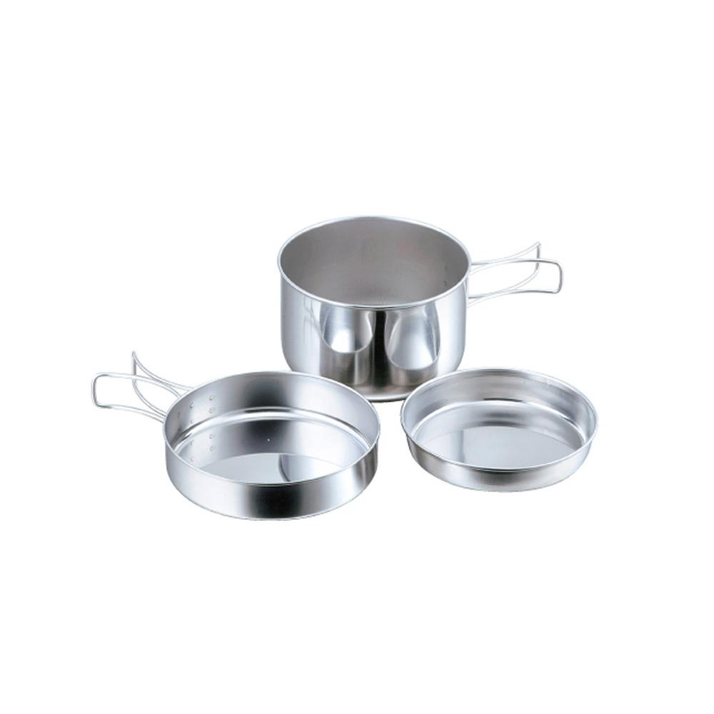 高桑élfin|日製不鏽鋼鍋碗盤萬用便捷3件組
