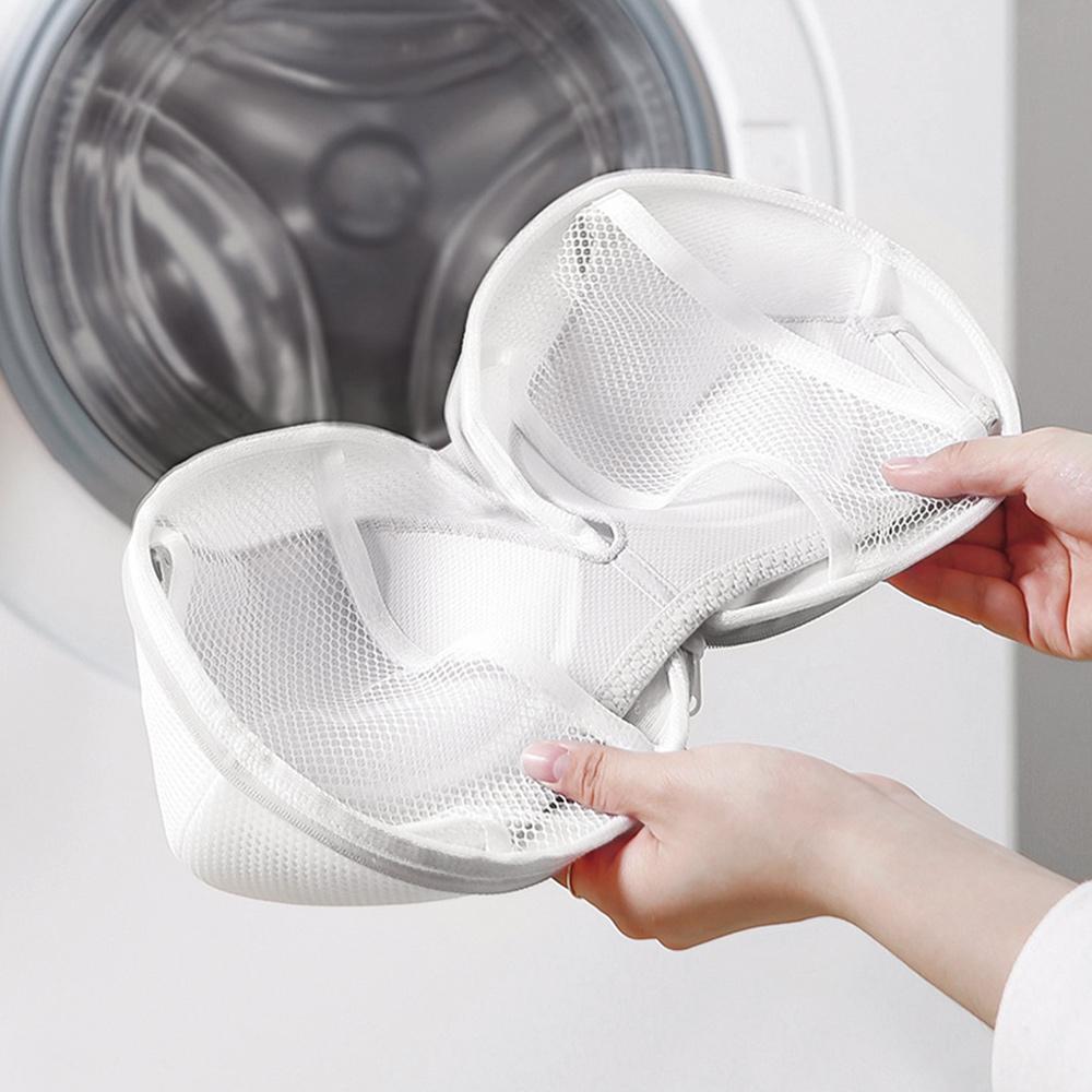霜山 球形雙層細網抗變形胸罩/內衣洗衣袋-3入
