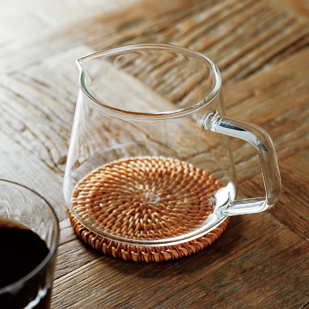 霜山 高透耐熱玻璃手沖咖啡分享壺-400ml
