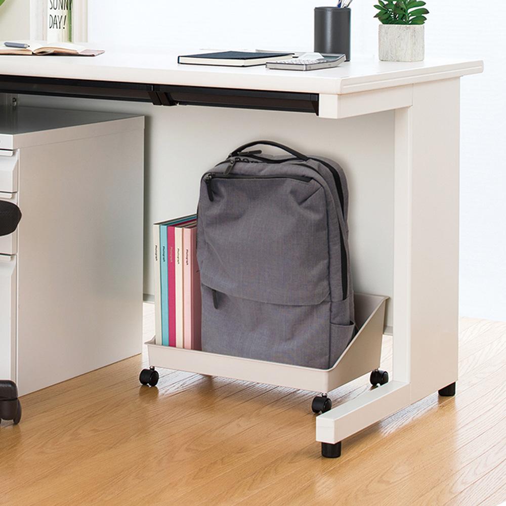 天馬|FitsWORK 桌下型滑輪移動式辦公包包置物盒