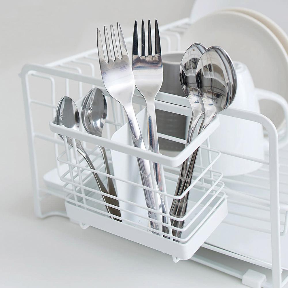 天馬|廚房系列可掛式筷子叉勺餐具分類瀝水籃