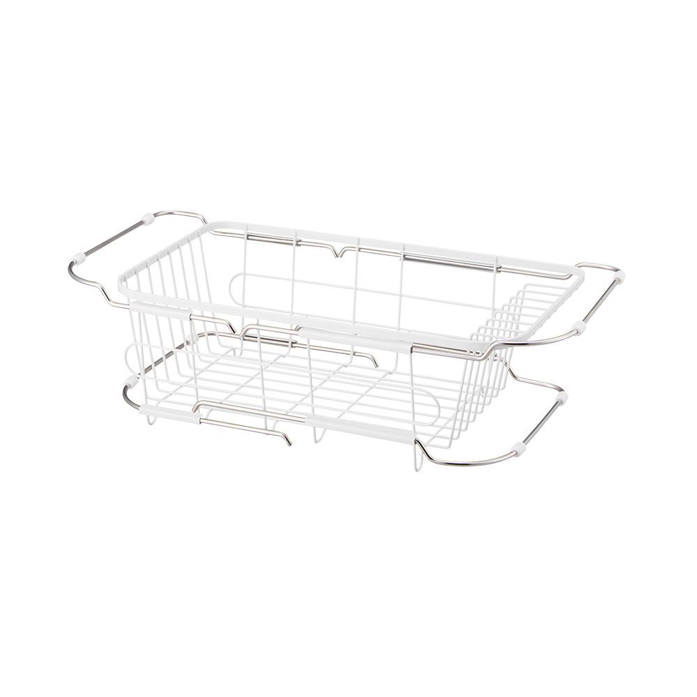 天馬|廚房系列寬型伸縮式碗盤瀝水籃