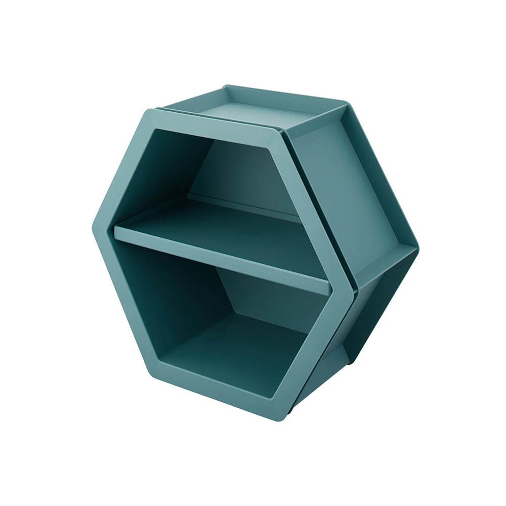 天馬|more+ 六角幾何壁掛/桌上/層疊三用收納盒-L-3入-多色可選
