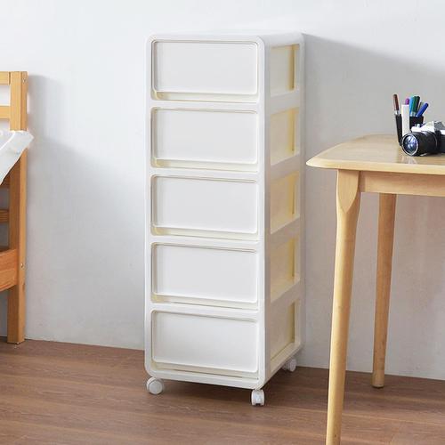 +O家窩 36面寬肯特五層耐重抽屜收納櫃附輪-DIY-3色可選
