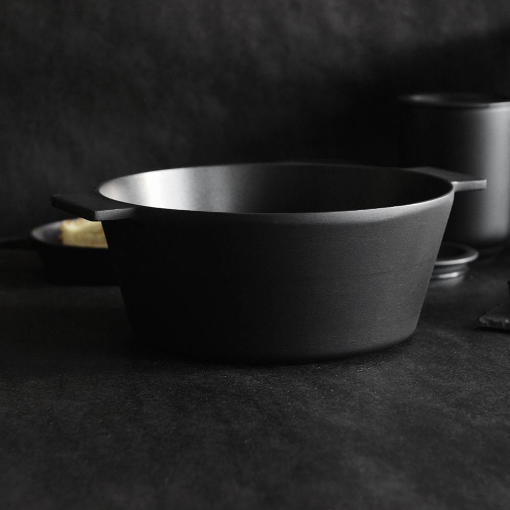 Morsø|皇家黑爵士雙耳3層不沾鑄鋁湯鍋(3.4L)-24cm