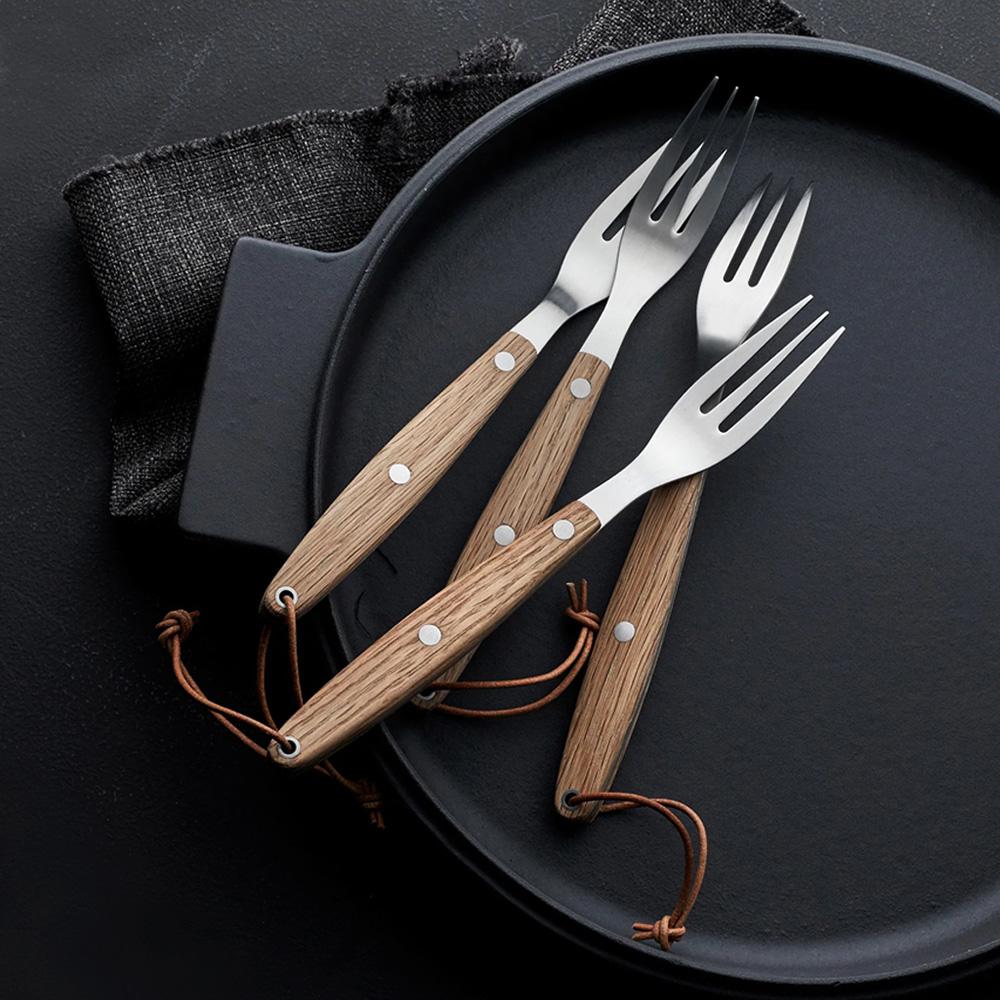 Morsø 皇家橡木柄不鏽鋼餐叉2件組