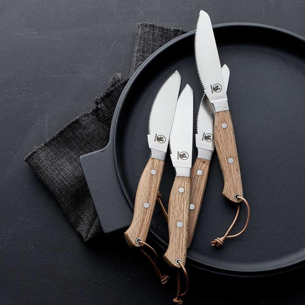 Morsø 皇家橡木柄不鏽鋼餐刀2件組