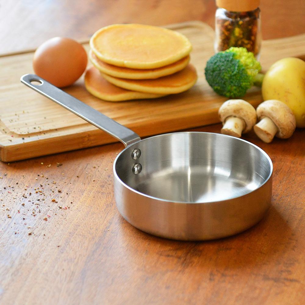 HOLM|單柄耐磨不鏽鋼調理煎烤鍋-12cm