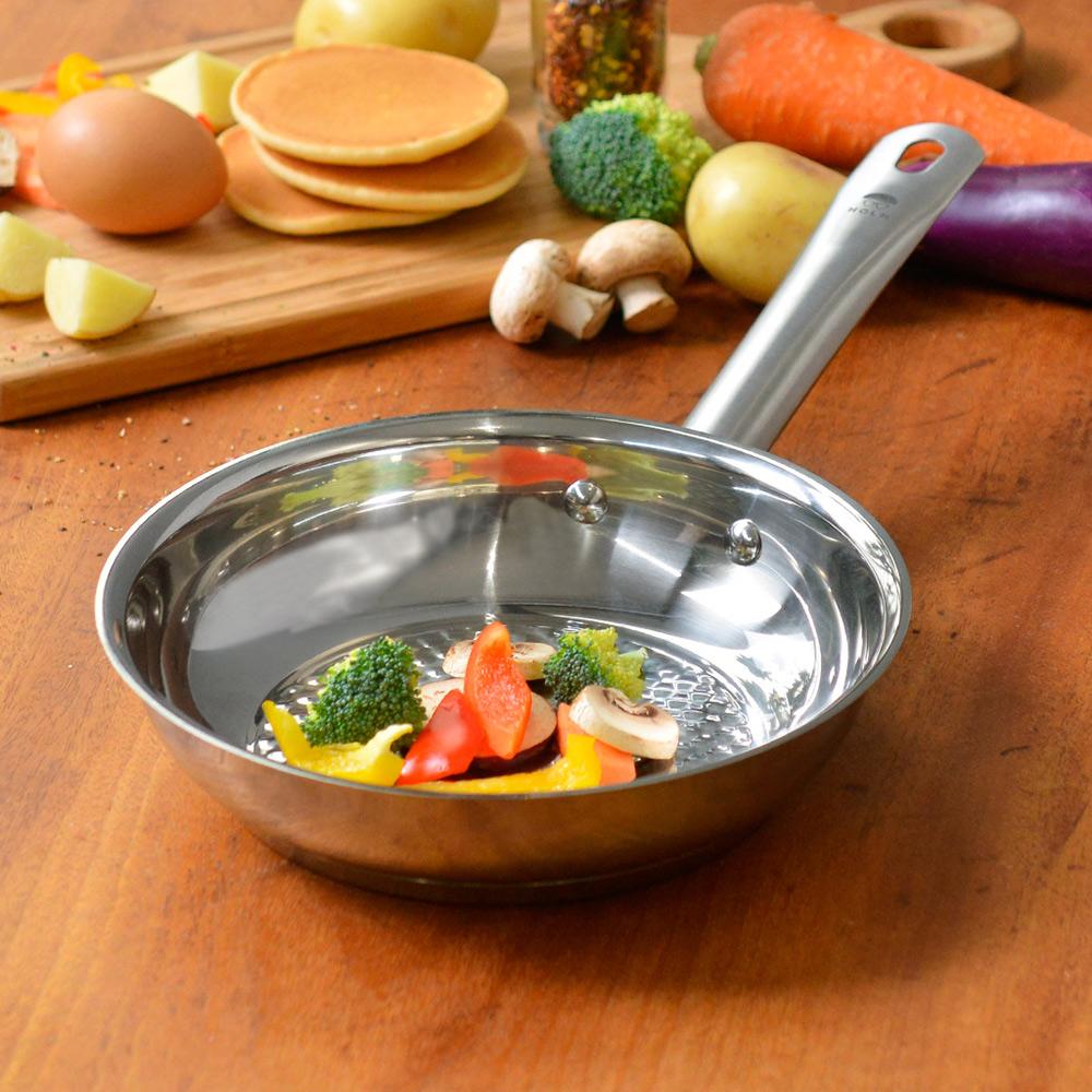 HOLM|單柄耐磨不鏽鋼平底煎鍋-20cm