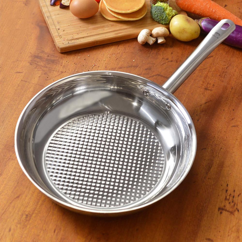 HOLM 單柄耐磨不鏽鋼平底煎鍋-28cm