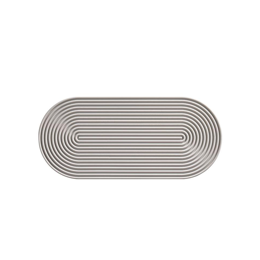 ZONE|Rocks長圓形圈紋矽膠杯墊(34x15cm)