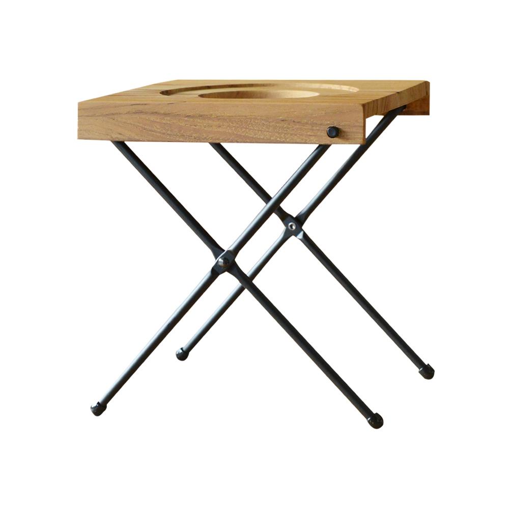 高桑élfin|日製不鏽鋼2段高低可調式摺疊手沖架(附收納袋)