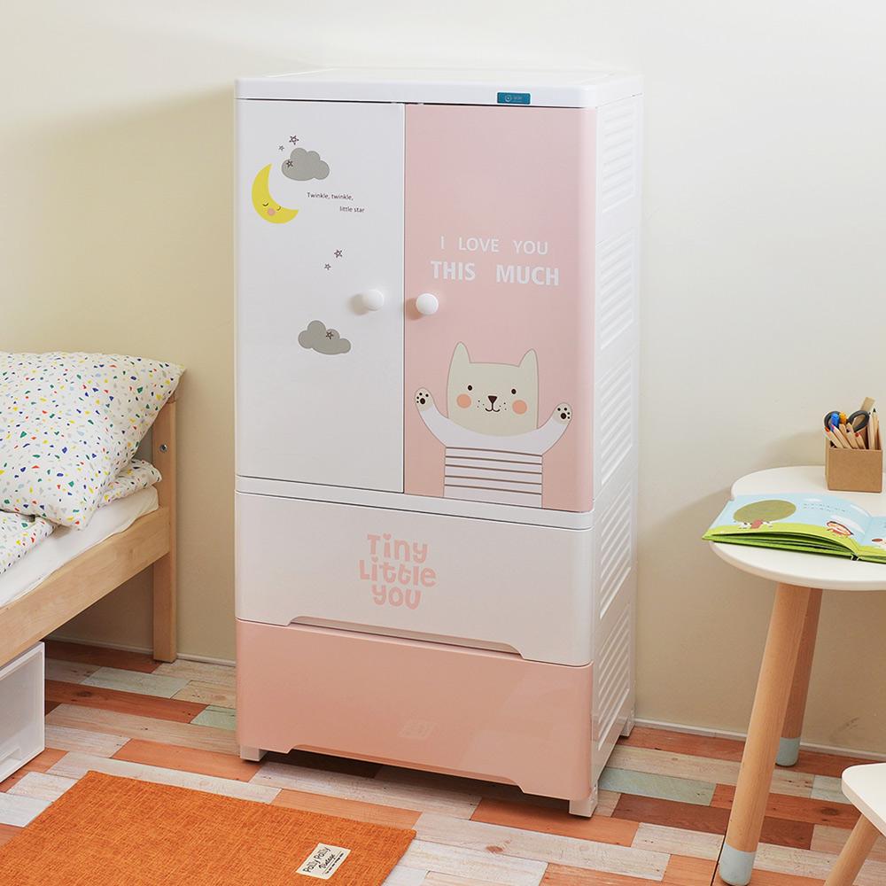 +O家窩|貝格雙開門式兒童吊掛衣櫃-DIY-2色可選