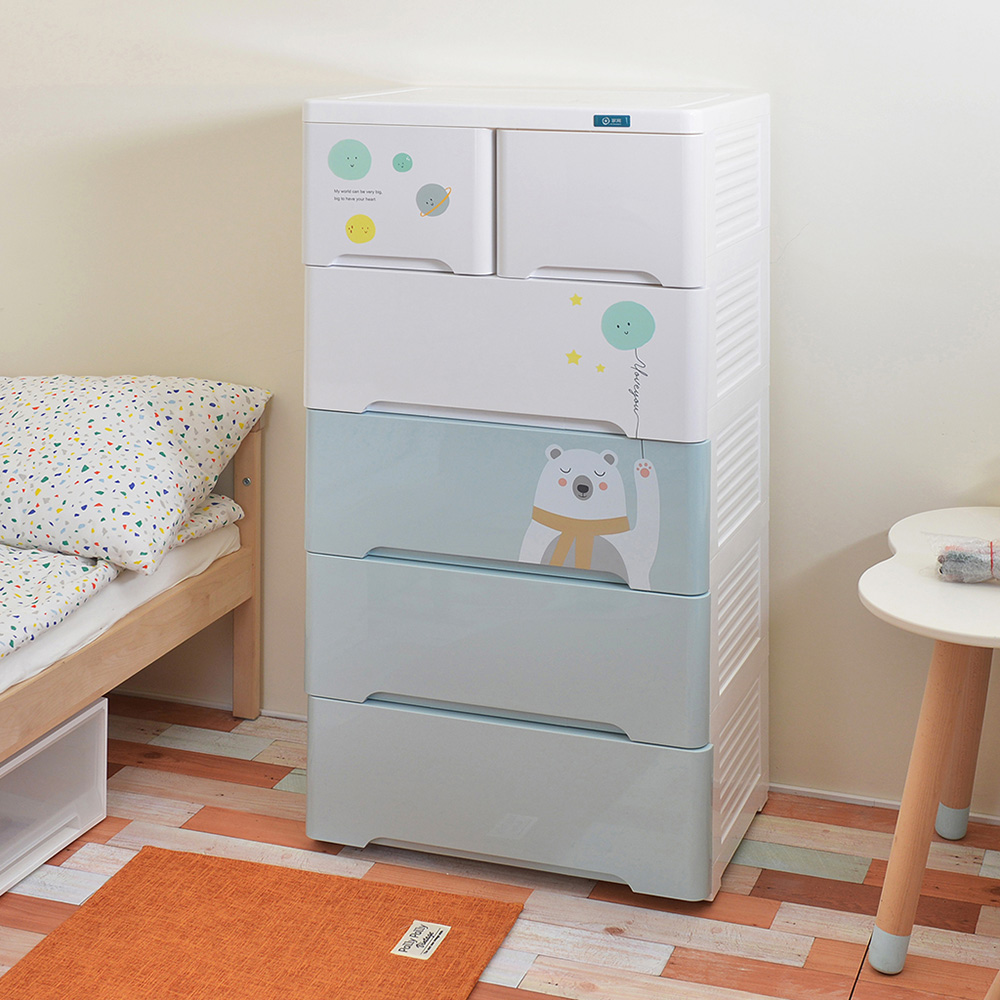 +O家窩|新晴五層抽屜收納櫃-DIY-2色可選