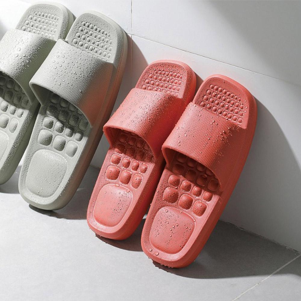 霜山|女款環保EVA輕量無臭防滑拖鞋(穴位按摩/室內/室外/浴室)-2色