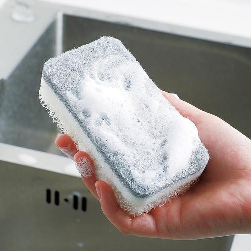 霜山|日製易起泡廚房粗細兩用去汙清潔海綿