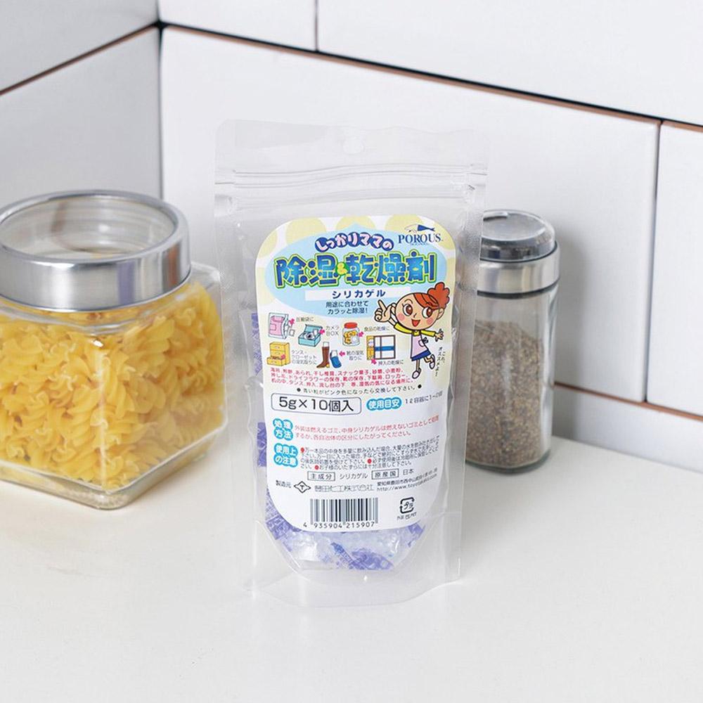 霜山|日本製萬用矽膠除溼防潮乾燥劑5g-10入