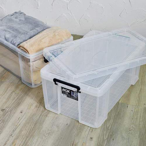 天馬|ROX系列74寬可疊式掀蓋整理箱-69L 2入