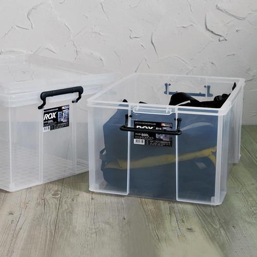 天馬|ROX系列66寬可疊式掀蓋整理箱-67L 2入