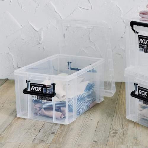天馬|ROX系列44寬可疊式掀蓋整理箱-21L 3入