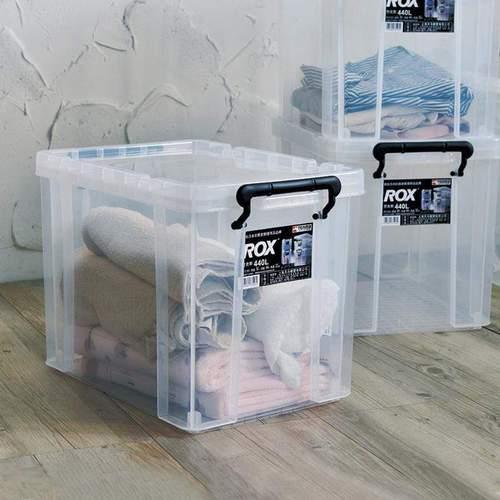 天馬|ROX系列44寬可疊式掀蓋整理箱-28L 3入