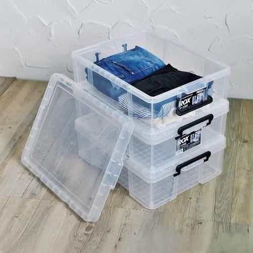 天馬|ROX系列53寬可疊式掀蓋整理箱-22L 3入