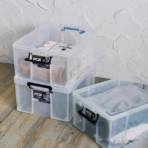 天馬|ROX系列53寬可疊式掀蓋整理箱-33L 3入