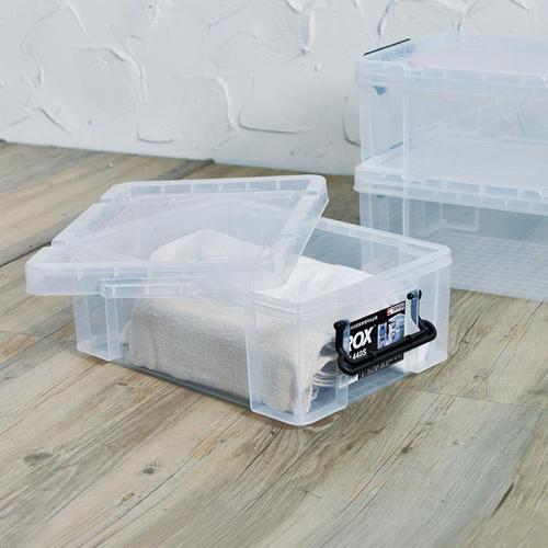 天馬|ROX系列44寬可疊式掀蓋整理箱-14L 3入
